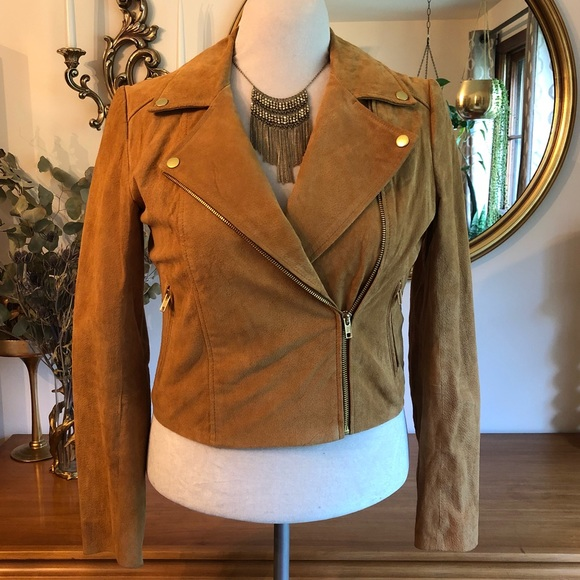 Jackets & Blazers - Forever 21 Retro Suede Leather Jacket